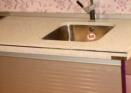 encimera cocina seno bajo 6