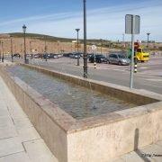 Fuente de mármol rectangular