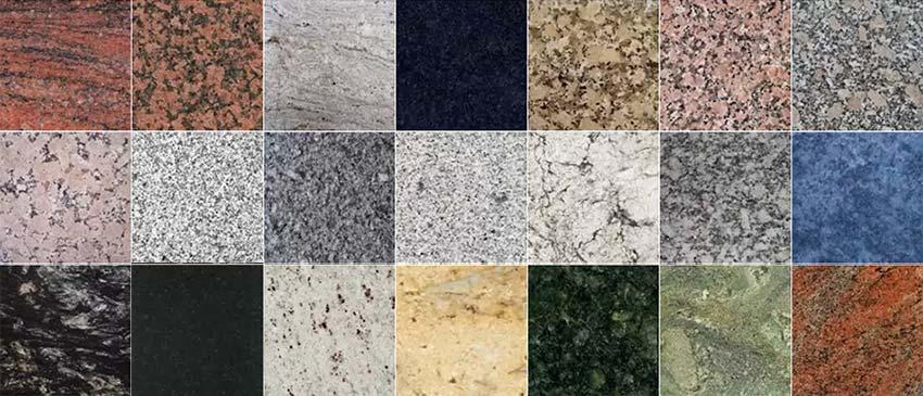 Variedades de granito